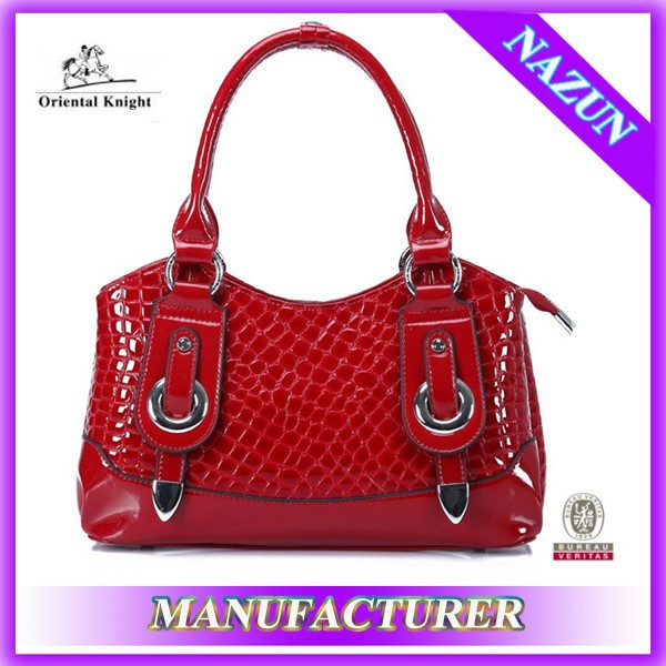 Middle capacity ladies business bag,top line leather bag in china