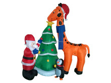 inflatable Christmas Santa Claus , giraffe , Christmas tree & penguin christmas inflatable decoration