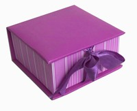 (Hot sale) luxury design jewellery packaging box handmade gift box with satin ribbon made in China with OEM service