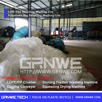 Latest technology PE PP film recycling machine for crush wash dry recycle agriculture film package film plastic bag