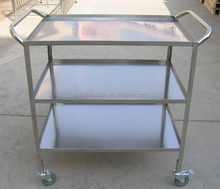 Medical instrument !!! Stainless steel three Shelves instrument trolley