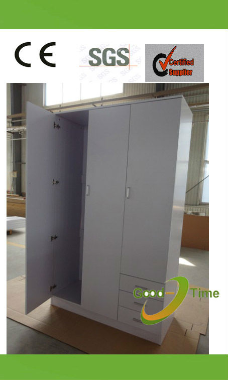 fsc 3 door modern melamine wooden bedroom closet