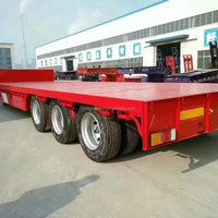 60ton Low Bed Cargo Semi Trailer