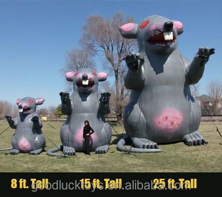 grey inflatable UNION RATS for advertising