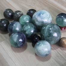 wholesale decor natural fluorite crystal ball in semi-precious stone crafts