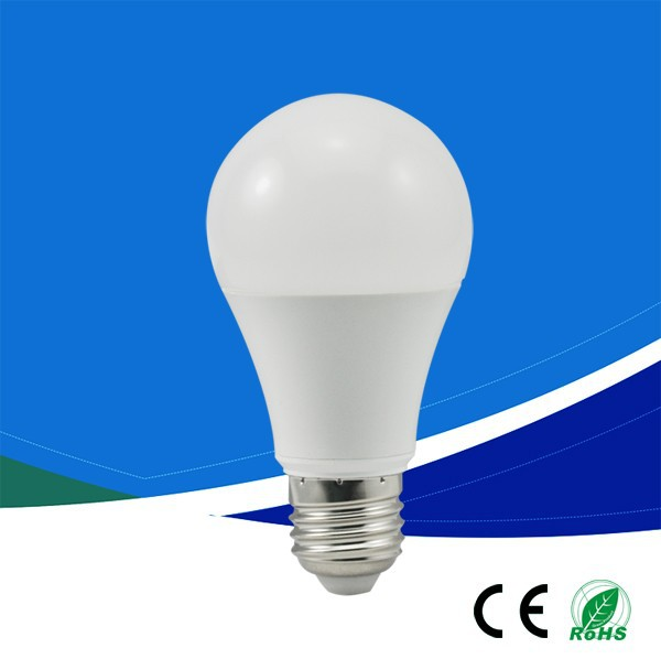 Buy direct from china factory Clear A60 led bulb Plastic+Aluminum 9w SMD2835 E27 60*110mm AC100-240V CRI>80 85lm/w pure white