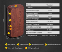 Temperature control light body Stabilized wood material kamry 80W UTC e cig wholesale