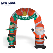 2018 High quality advertising inflatable Santa Claus Elf Arch Christmas outdoor decoration