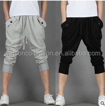 men joggers trousers Shorts Designer Cuffed Fleece Drop Crotch 3/4 Jogger Sweat