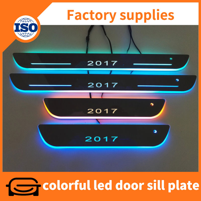 New Arrival car tuning part sensor led moving door sill scuff plate for Volvo XC90 2015-2017
