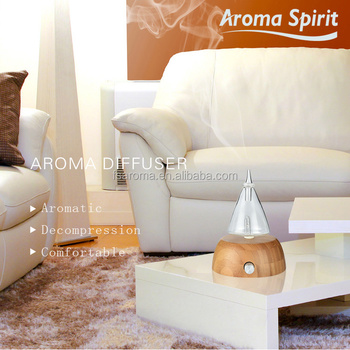 Bamboo base LED light Aroma diffuser