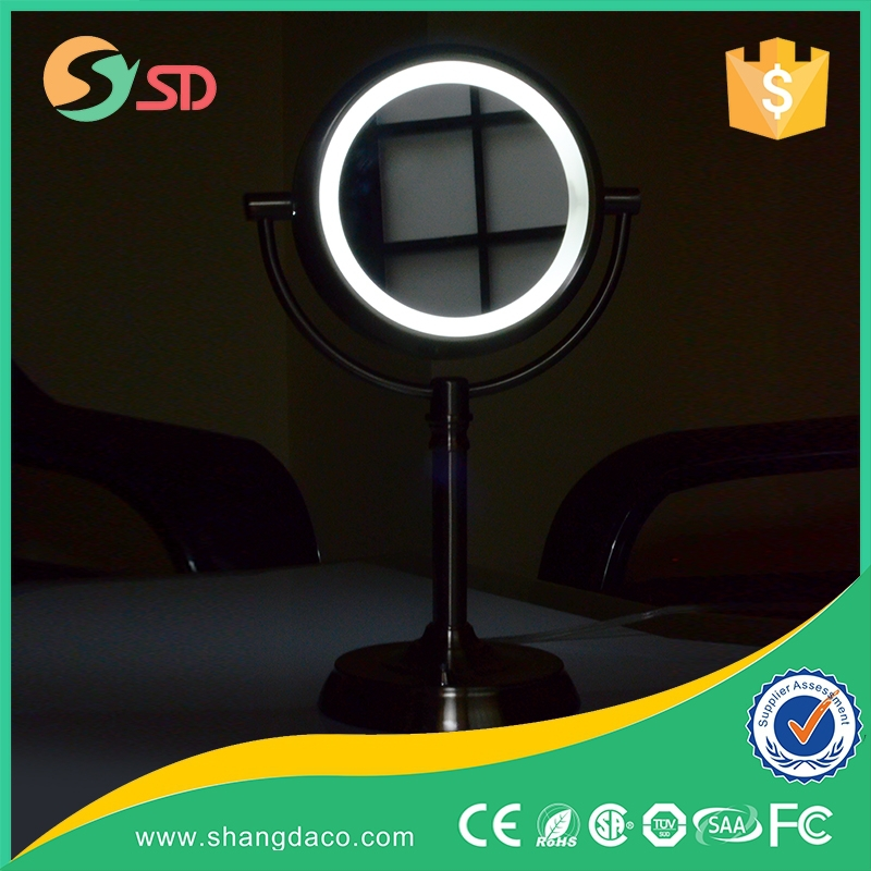On-time delivery factory directly cheap double face makeup table led mirror