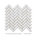 "Dianco Diamante Onyx Marble 1x3"" Herringbone Mosaic Tile For Bathroom"