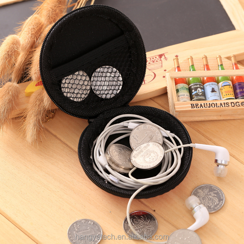 Factory Hot Sale Colorful Promotional Gifts PU EVA material Foldable Earphone storage box USB Data Cable Storage Box