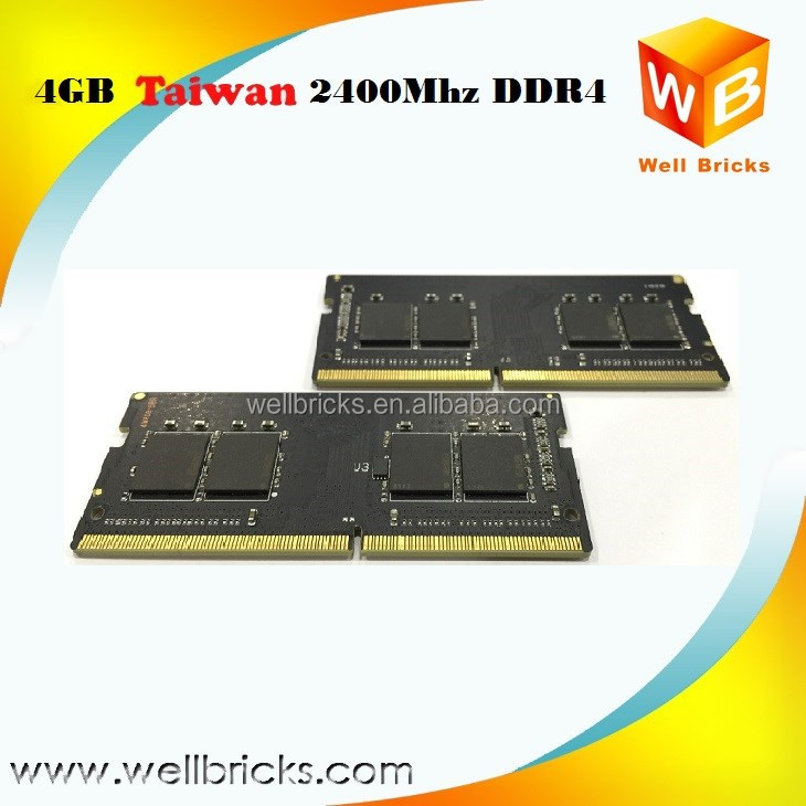 Taiwan Manufacturer 2400mhz 4GB DDR4 Ram Price for Sodimm Laptop Ram