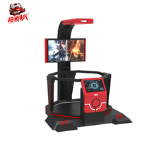 Long life span guangdong family simulator kids 9d vr stand up platform+walking game machine