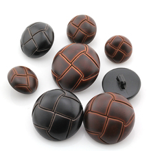 Classic Imitation Leather Plastic Football Shaped Buttons For Coat