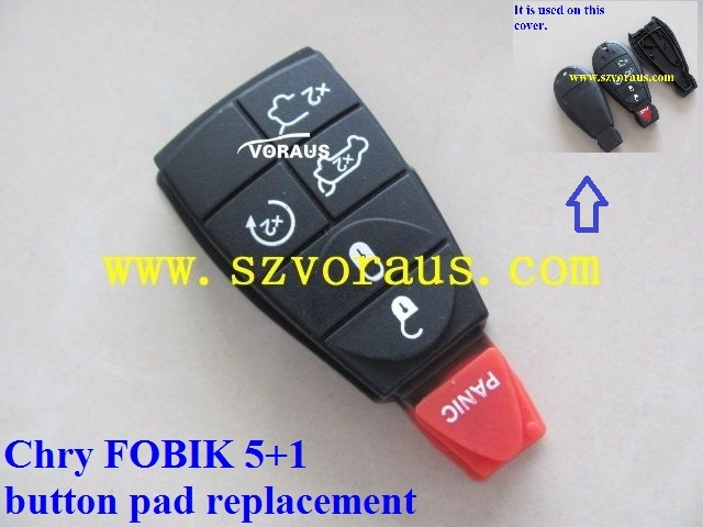 Chry FOBIK 6 button pad replacement