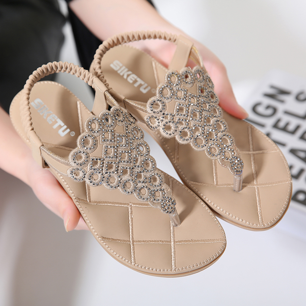 floral braided bohemian sandles best price
