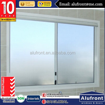 Guangzhou Alufront UPVC Sliding Glass Window for better weather insulated solution