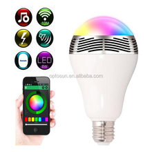 50000 Hours Work Time Remote Control 3w Power Led 24 Models Rgb Smart Light Led Light Bulb Speaker