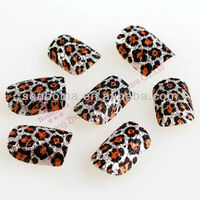 leopard sexy lady nails decro nail art design pictures