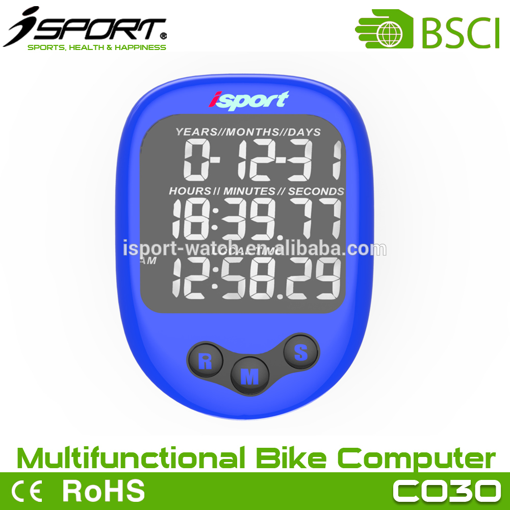 Wireless cycle computer with heart rate, barameter, altimeter, company Large LCD dispaly waterproof