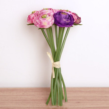 Home Decoration Pieces Wedding Vintage Artificial Silk Peony Bouquet silicone artificial flower