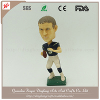 Resin Rugby Player Wholesale Bobblehead Custom