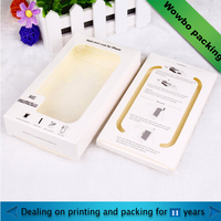 mobile phone accessory packaging paper box with PVC window