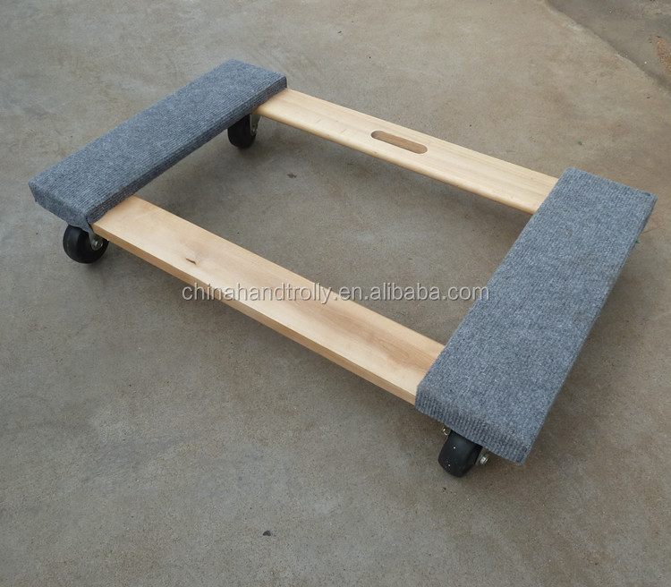 end carpet cover moving wood plant dolly