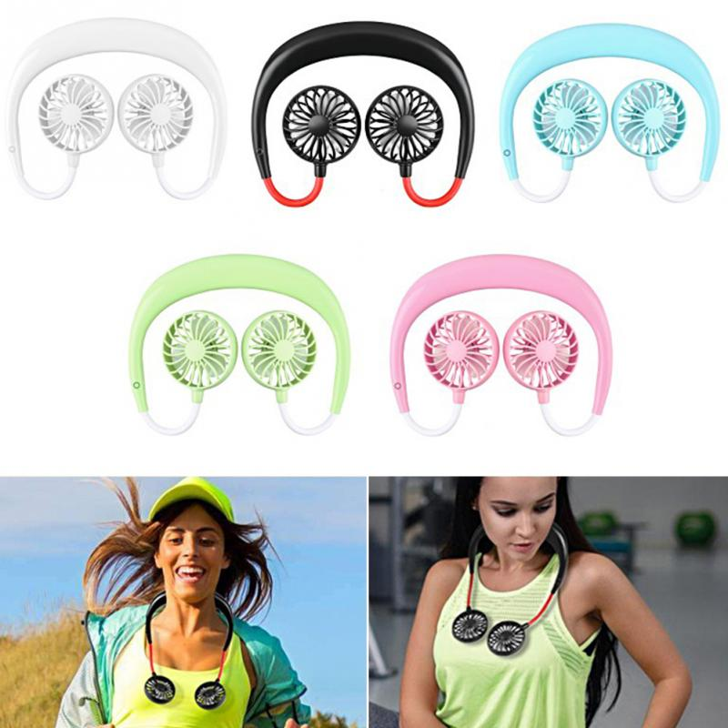 Portable Mini Fan Wearable Neck Fan 2019 Summer 3 Gear Flexible Portable Removable Mini USB Fan