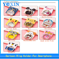 Factory Price Smart Slim Metal Hot selling 360 degree rotating finger cartoon ring phone holder for mobile phone