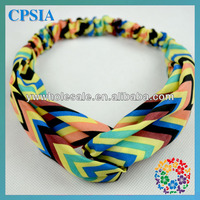 Fashion Turban Chevron Hairband for Kid Infant, Pretty Hair Decoration with Soft Material 2014 New Arrivals