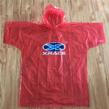 Logo Printing Disposable Rain Poncho With Sleeves