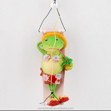 Painted resin hammock frog christmas decoration 2017