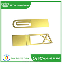 Wholesale alibaba custom usb drives cheap metal paper clip smart sticker flash drive 512mb 1gb 2gb 4gb