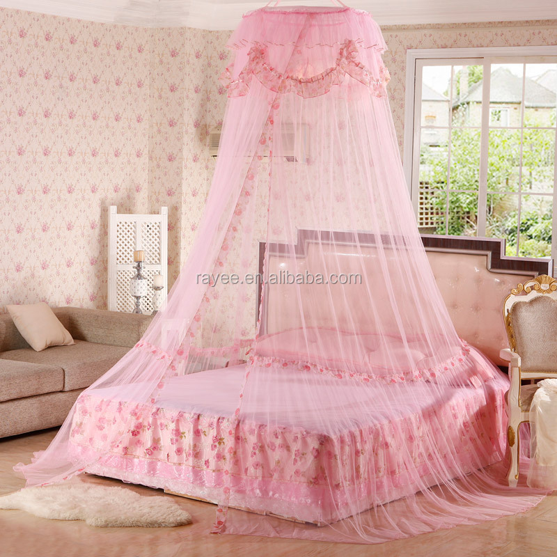 luxury round mosquito nets girls princess bed canopy free standing pop up mosquito net. Black Bedroom Furniture Sets. Home Design Ideas