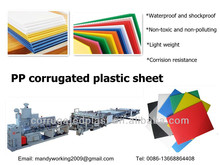 Polypropylene plastic corrugated sheet/board/plate/panel