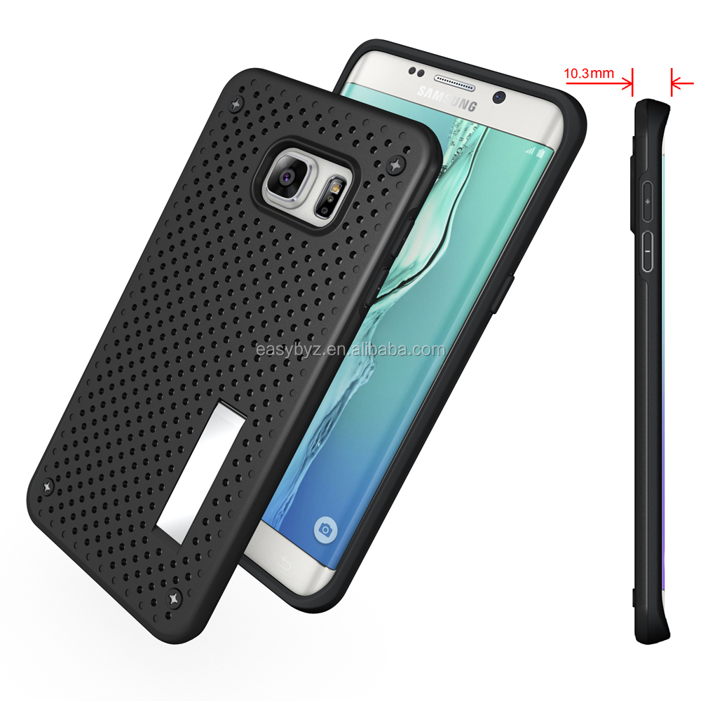Hybrid Kichstand Dot Hole Back Case Cover For Samsung Galaxy S6 Edge Plus, for samsung s6 edge plus case combo