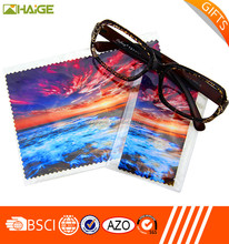 Transfer printing lens cleaning cloth for branded sunglasses
