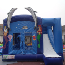 Wholesale Outdoor inflatable bouncer/jumping castle/bounce house with water slide