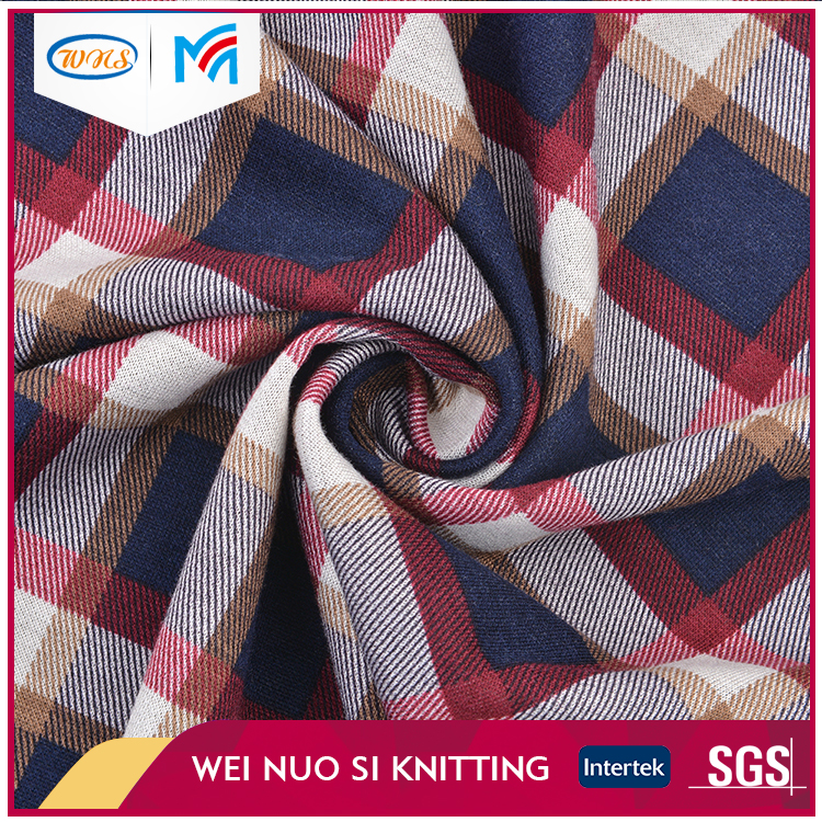 High Quality Fashion design Lattice pattern Knitting print Fabric for Scarf