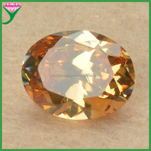 Hot sell 7*9mm oval synthetic champagne topaz cubic zirconia gemstone price