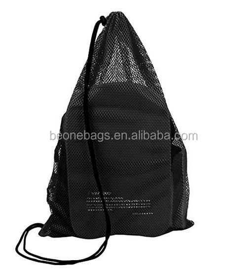 Large Capacity Sports Swimming Equipment Mesh Draw String Bag with Shoulder Strap