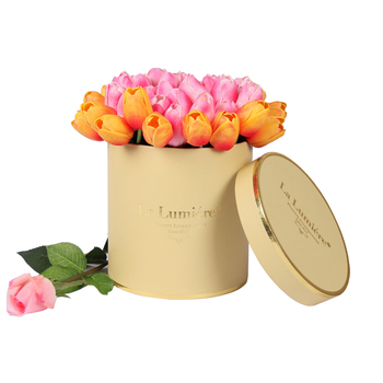 Hot selling luxury round plain hat boxes with lids for flowers