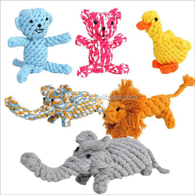 Top quality animal models cotton rope molars pet toys for dog and pet