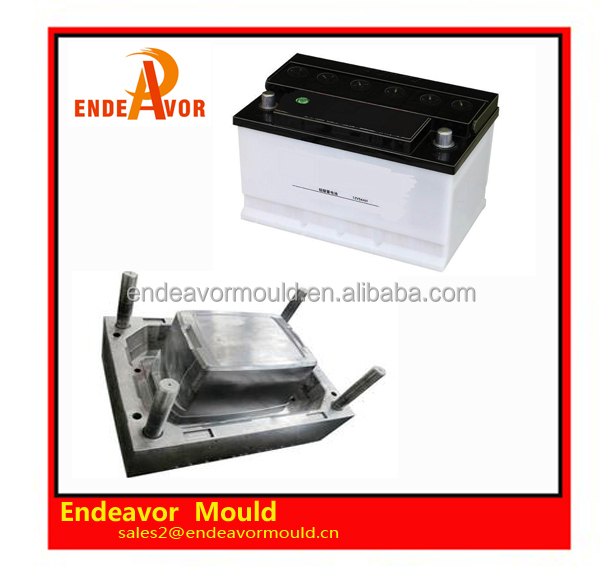 Factory directly sales quality assurance design and processing injection plastic storage battery box mould