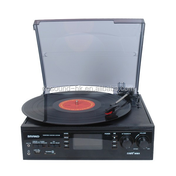 Top selling antique customized radio gramophone with 6 in 1 function