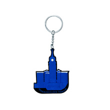 2017 Promotional personalized custom rubber soft key chains
